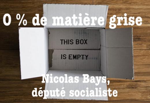Nicolas Bays ne l'a pas volé