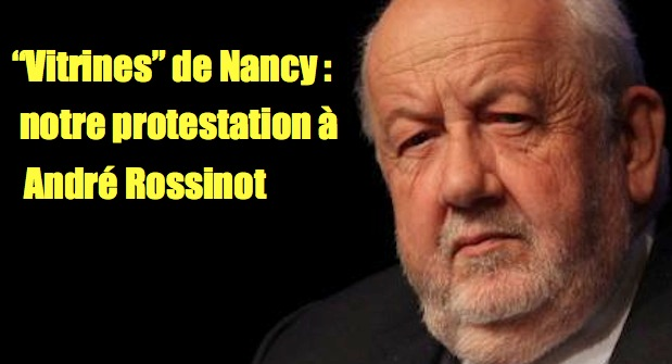 Cochonneries de Nancy : mon courriel au maire André Rossinot
