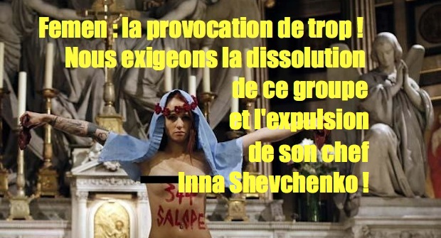 Femen's provocation in a church
