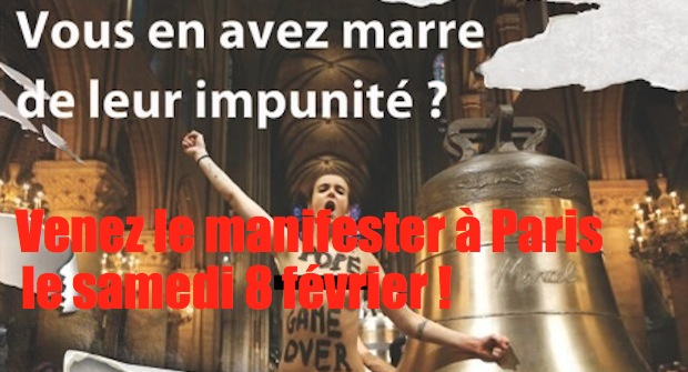 Dissolution des Femen : manifestation nationale à Paris !