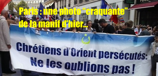 Paris : une touchante photo de la manifestation d'hier