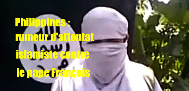 Philippines : menace d'attentat islamiste contre le pape François