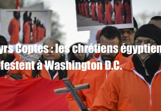 Martyrs Coptes : les chrétiens égyptiens manifestent à Washington D.C.