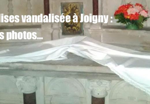 Églises vandalisées à Joigny : des photos…