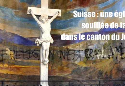Suisse : une église souillée de tags à Delémont
