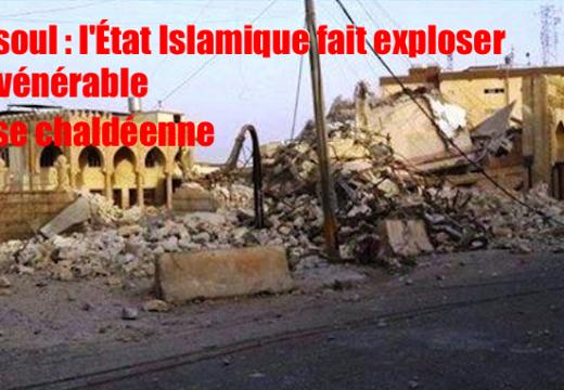 Irak : L'État Islamique fait exploser une église à Mossoul