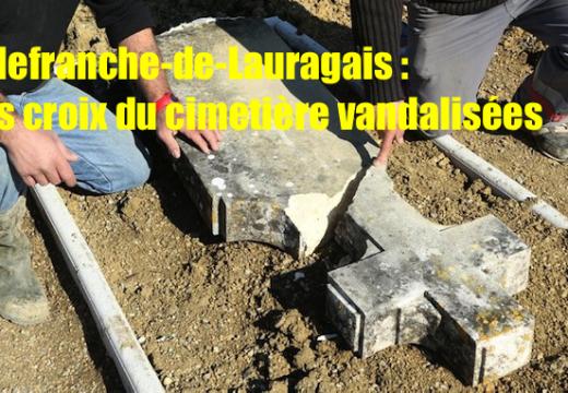 Villefranche-de-Lauragais : des croix de sépultures arrachées et brisées