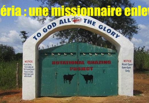 Nigéria : une missionnaire septuagénaire enlevée