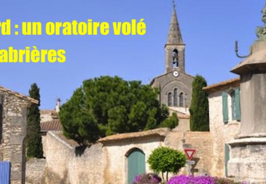 Gard : vol d'un oratoire à Cabrières