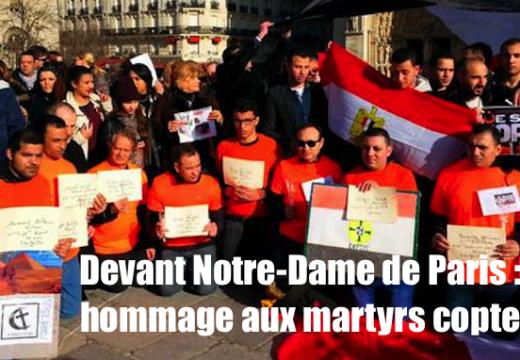 Notre-Dame de Paris : une assemblée nombreuse et priante pour les martyrs coptes