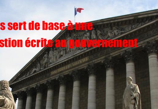 L'Obs sert de base à une question écrite d'un parlementaire au gouvernement