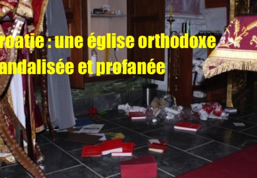 Croatie : une église orthodoxe profanée
