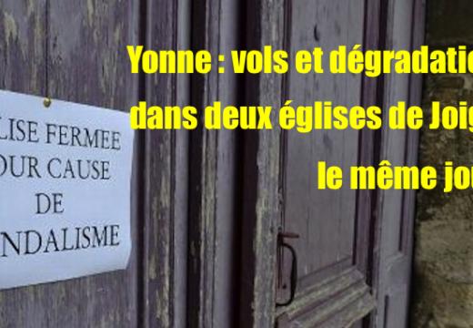 Yonne : deux églises dégradées le même jour à Joigny