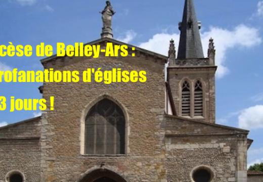 Ain : 5 profanations d'églises en 3 jours dans le diocèse de Belley-Ars !