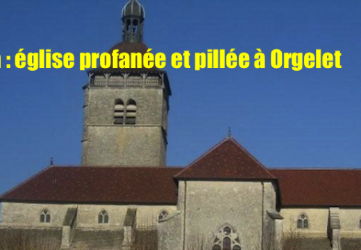 Jura : profanation et vols dans une église d'Orgelet