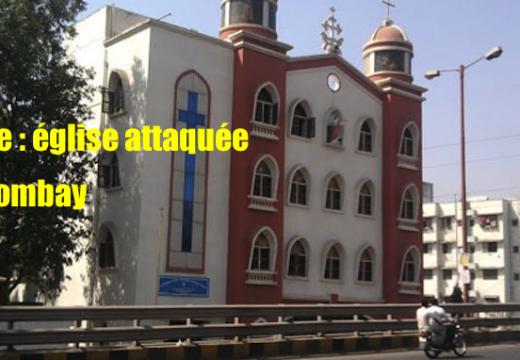 Inde : une église caillassée près de Bombay