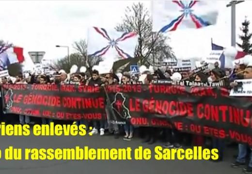 Soutien aux Assyriens enlevés : vidéo du rassemblement de Sarcelles