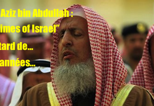 "Grand mufti d'Arabie Saoudite : ""The Times of Israel"" retarde de trois ans…"