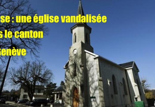 Suisse : une église catholique vandalisée à Pregny-Chambésy
