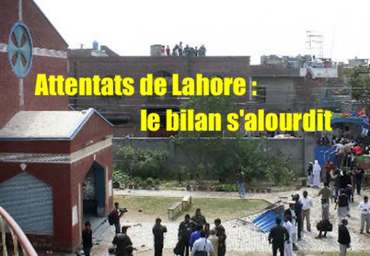 Attentats de Lahore : le bilan s'alourdit