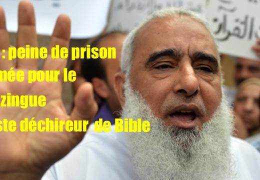 Égypte : la condamnation du déchireur de Bible, confirmée