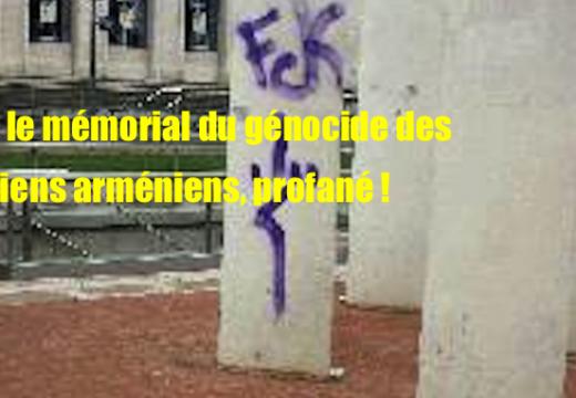 Lyon : profanation du mémorial du génocide des chrétiens arméniens