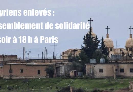 Assyriens enlevés : rassemblement de solidarité ce soir à Paris