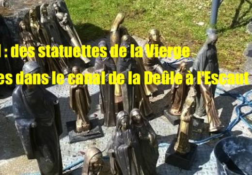 Roubaix : 25 statuettes de la Vierge jetées dans le canal