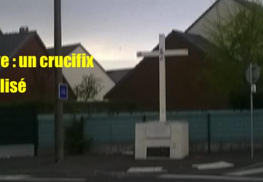 Le Havre : crucifix vandalisé