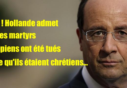 Libye : Hollande reconnaît que les martyrs ont été tuées « en raison de leur foi chrétienne »