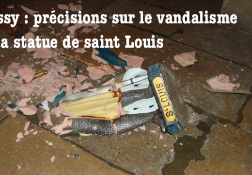 Poissy : des précisions sur le vandalisme de la statue de saint Louis