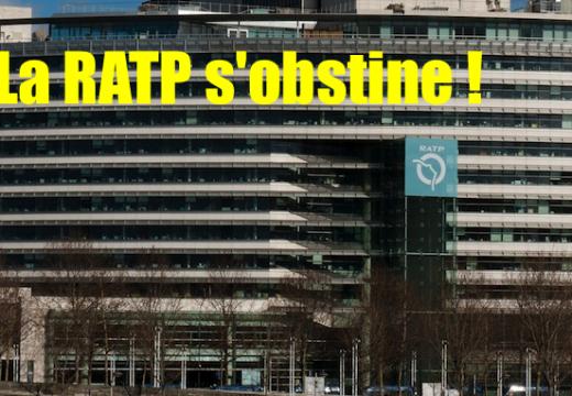 Pour la CHREDO, la RATP défie le gouvernement et les Français !