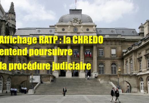 Affiche RATP : le TGI refuse de trancher le litige