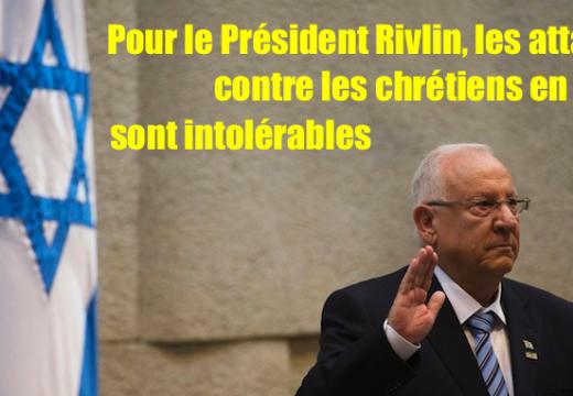 Le Président israélien entend lutter contre les attaques d'églises