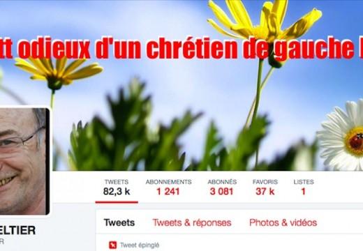 Le Twitt odieux d'un chrétien de gauche belge…