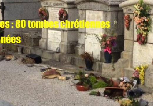 Castres : 80 tombes chrétiennes profanées