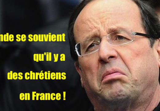 Profanations de Castres : Hollande se souvient qu'il y a des chrétiens en France, mais…