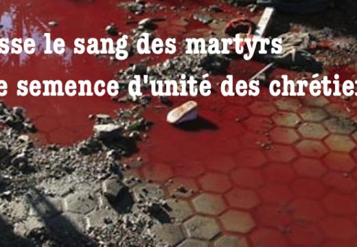 Puisse le sang des martyrs être semence d'unité des chrétiens !