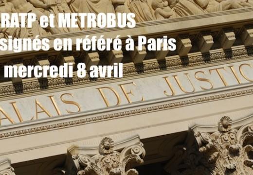 Affiches RATP : le référé de CHREDO ce mercredi 8 avril à 10 h