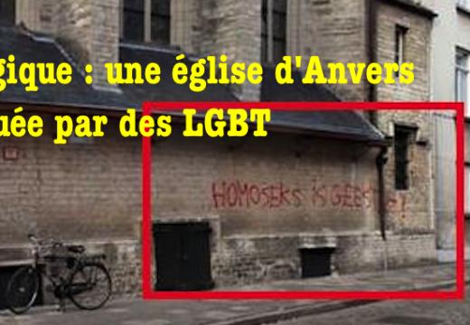 Belgique : une église taguée à Anvers