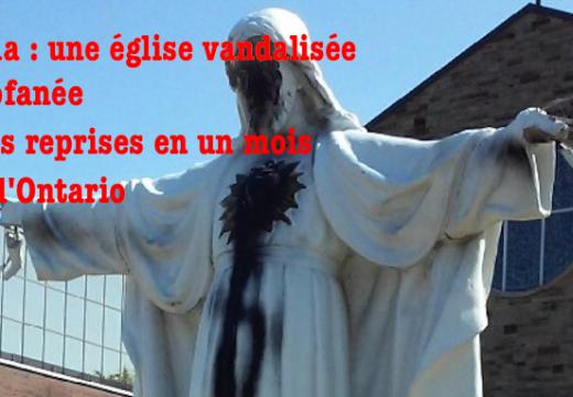 Canada : vandalismes et profanation à répétition dans une église de l'Ontario