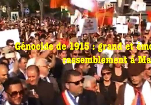 Marseille : commémoration du génocide de 1915