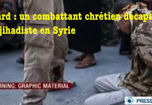 Bobard : un combattant chrétien décapite un militant de l'État Islamique en Syrie ?