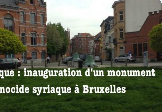 Belgique : monument au génocide syriaque à Bruxelles