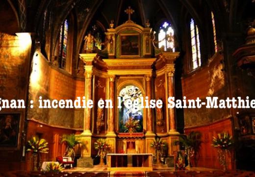 Perpignan : incendie dans l'église Saint-Matthieu