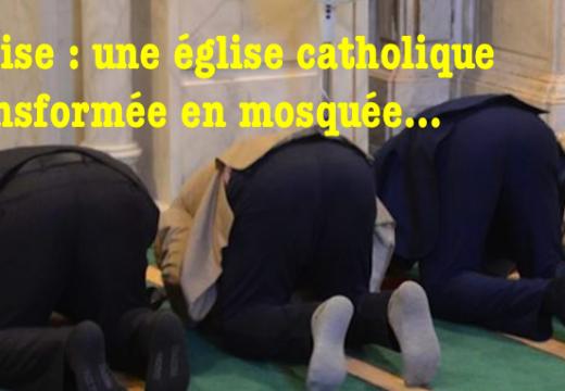 Venise : une église catholique transformée en mosquée !