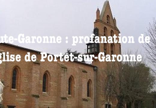 Haute-Garonne : profanation du tabernacle de l'église de Portet-sur-Garonne