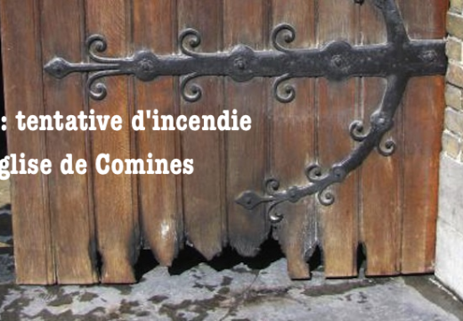Nord : tentative d'incendie criminel de l'église de Comines