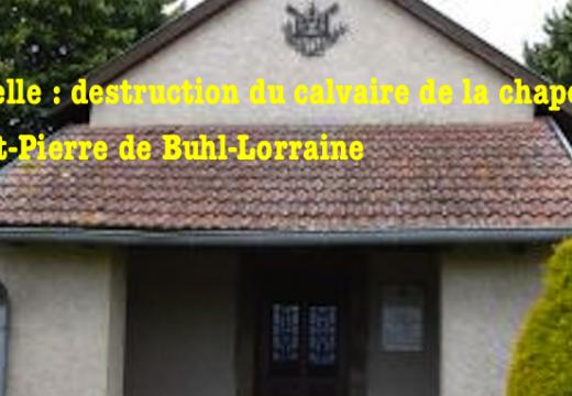 Moselle : le calvaire d'une chapelle vandalisé