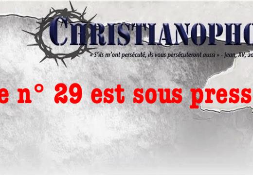 Christianophobie Hebdo : le n° 29 est sous presse